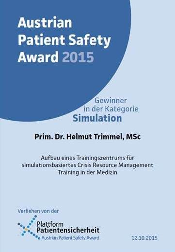 Austrian Patient Safety Award 2015